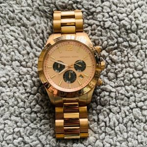 Michael Kors Mens/Unisex Rose Gold Watch - MK